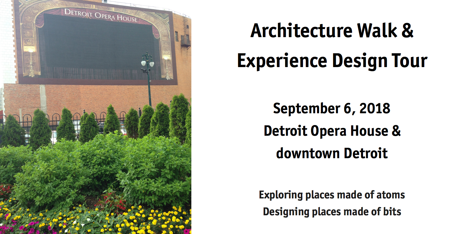 Architecture Walk & Experience Design Tour Banner