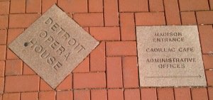 Brick Sidewalk with Directions